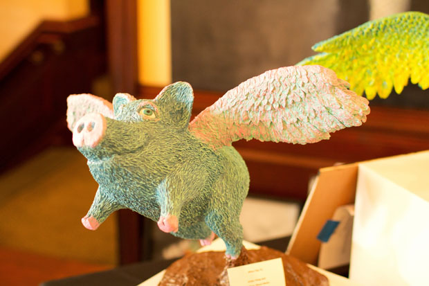 Papier mache pig, When Pigs Fly, by Phillip Bell