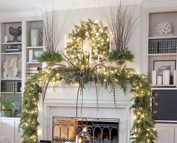 Holiday Wreath and Mantle by Dezign Inspirations